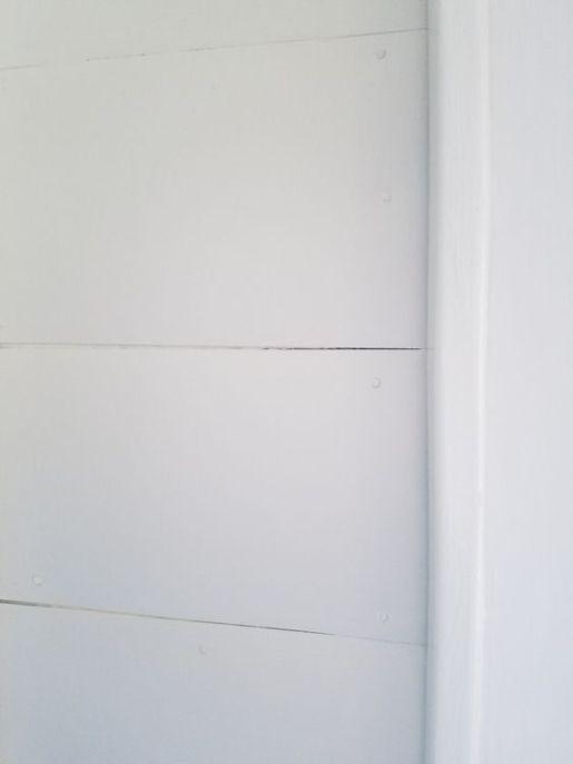 DIY faux shiplap walls