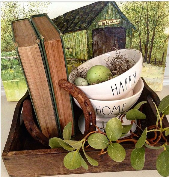 rae dunn vintage old books rae dunn pottery old paintings Cute ideas for decorating with green