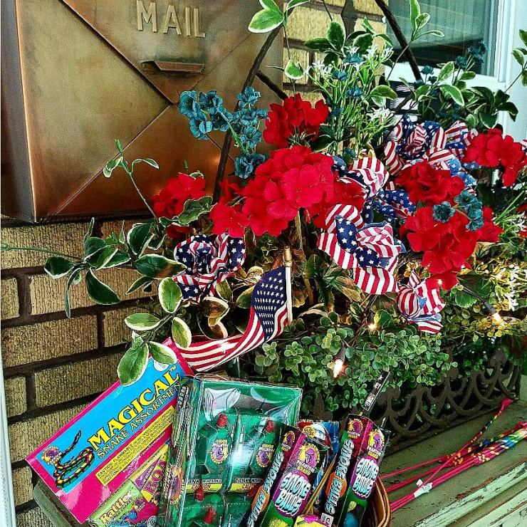 Festive Fireworks in Longeberger basket Patriotic Decor