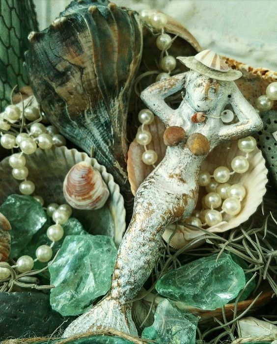 Make a mermaid bikini with tiny seashells mermaid upcycle beach keepsake