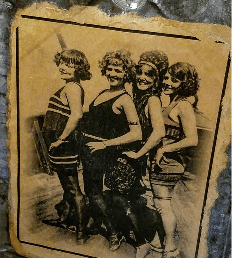 VIntage beach ladies vintage 1920s swimsuits photo