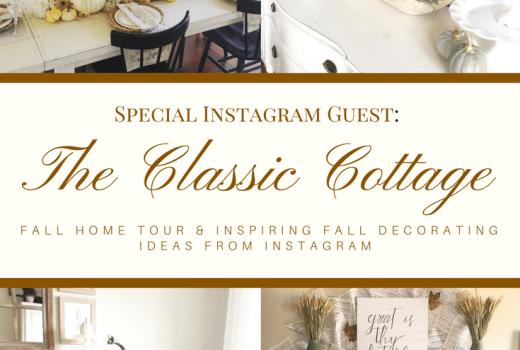 A Classic Cottage Beautiful Fall Home Tour at followtheyellowbrickhome.com