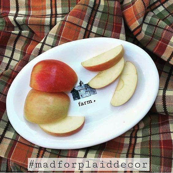 #madforplaiddecor hashtag party instagram rae dunn apples fall decor