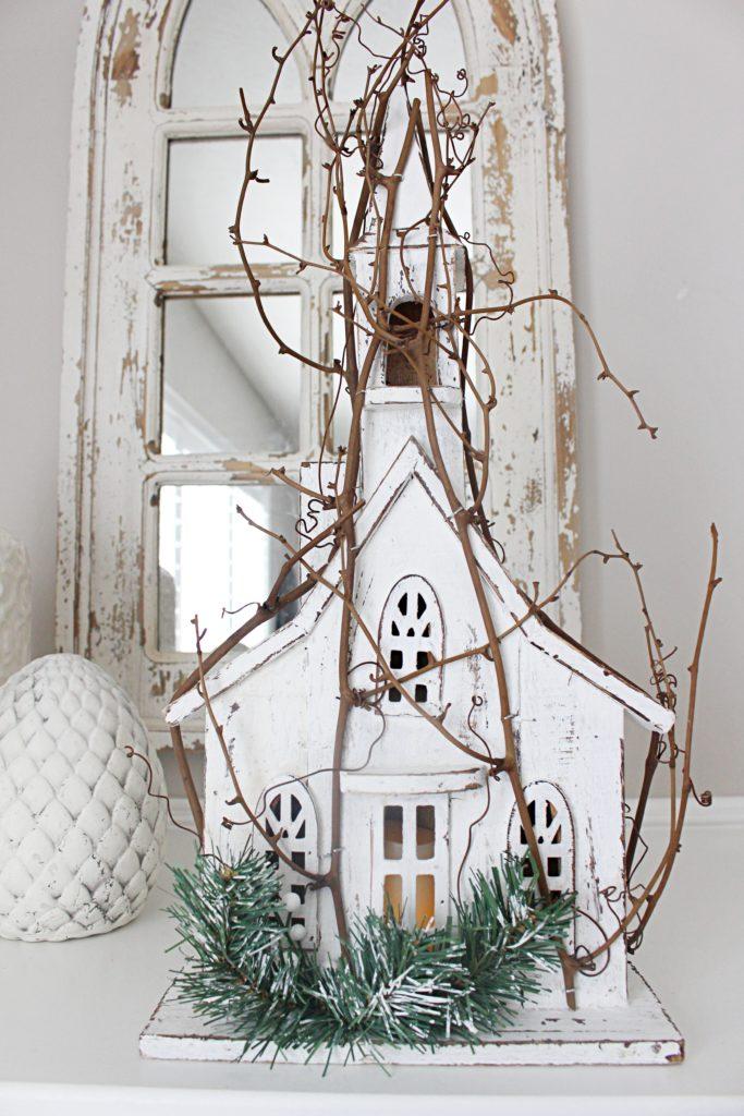 Beautiful Farmhouse style Christmas decor white Christmas!