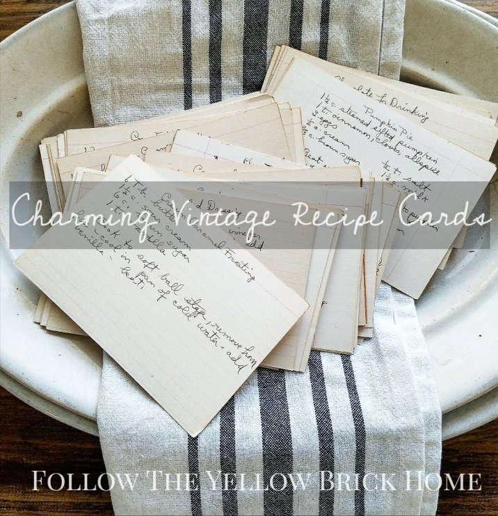 Collecting and decorating with vintage recipe cards