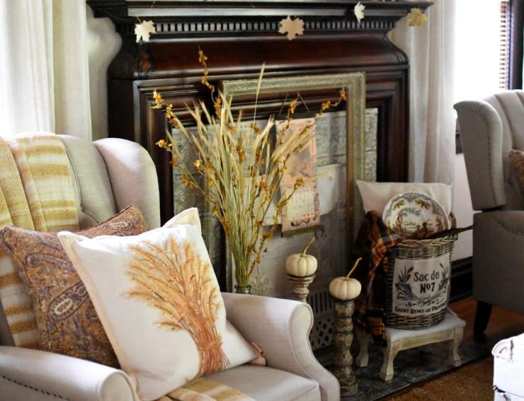 cozy fall pillows magnolia homes mustard yellow throw blanket yellow fall pillows fall home tour #fallhometour