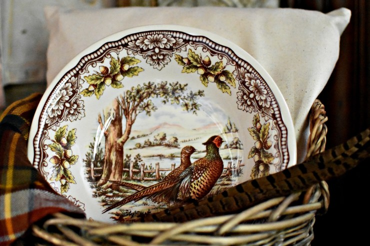 Beautiful pheasant bowl fall dishes Fall home tour