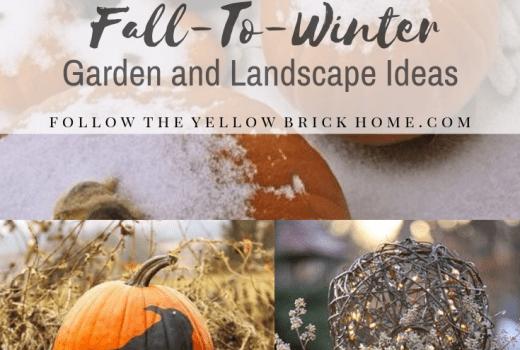 Fall To Winter Garden Landscape Ideas