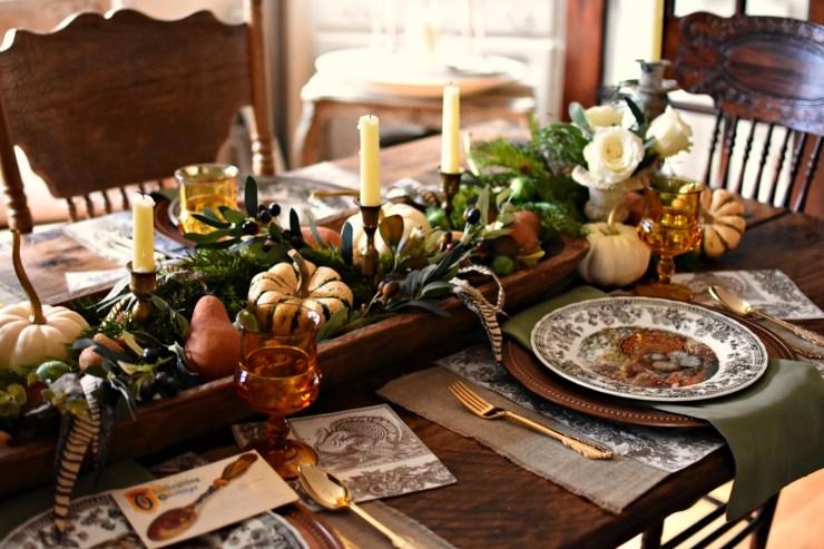 Elegant French country Thanksgiving tablescspe farmhouse Thanksgiving ideas