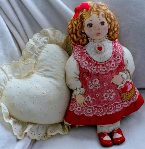 vintage valentine stuffed doll