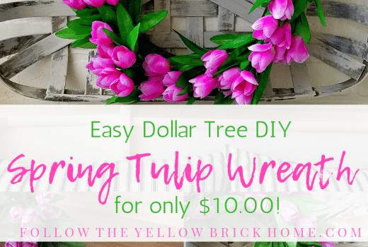 Easy Dollar Tree DIY Spring Tulip Wreath for only $10