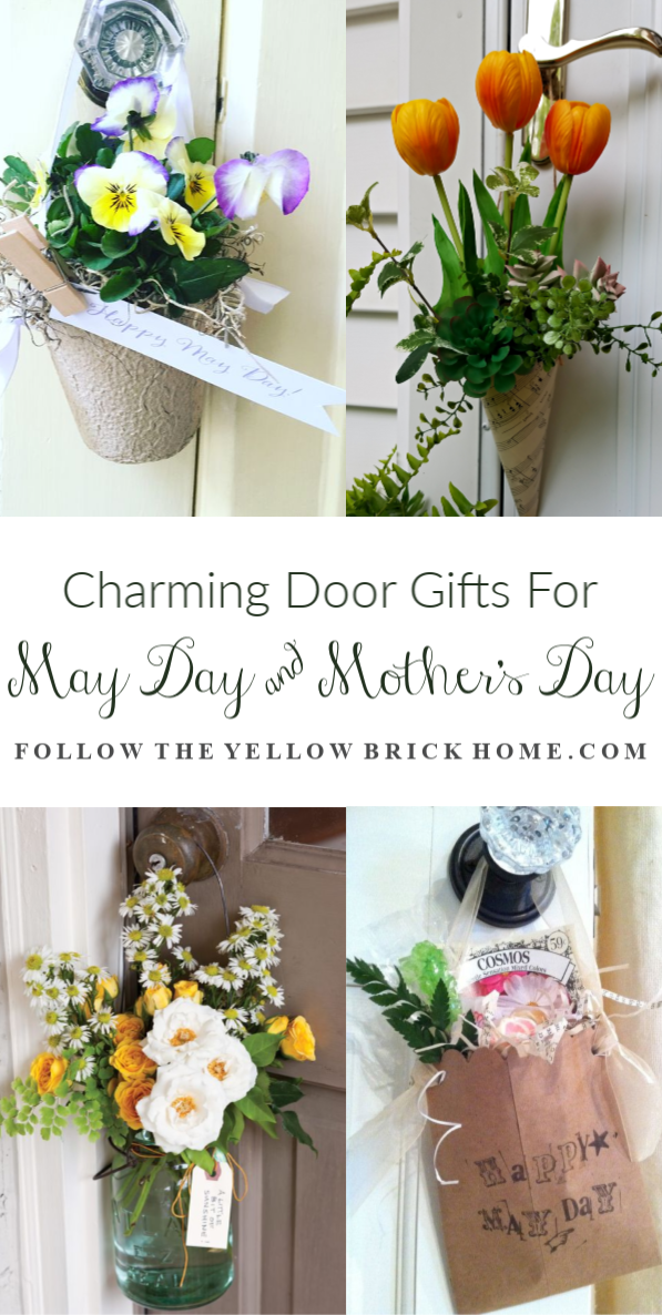 Cute gift ideas for Mother's Day door basket ideas May Day baskets May Day Cones