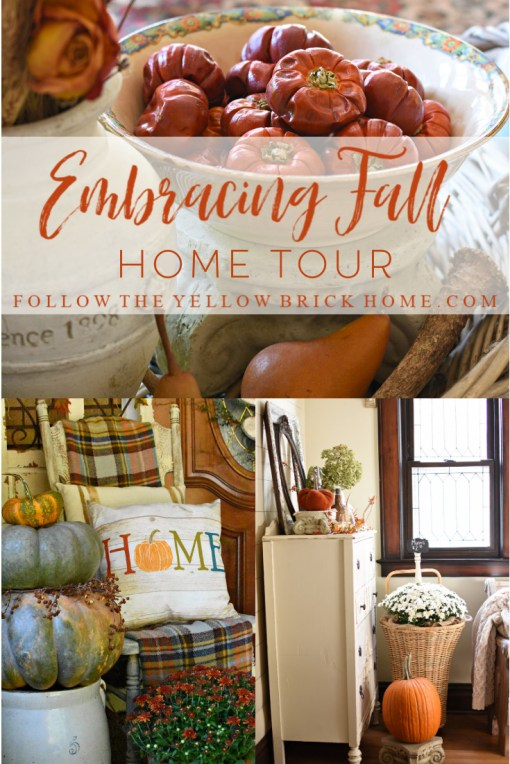 Fall home tour vintage farmhouse fall decor French country fall decorating ideas