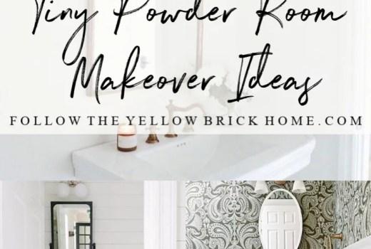 Tiny Powder Room Makeover Ideas One Room Challenge
