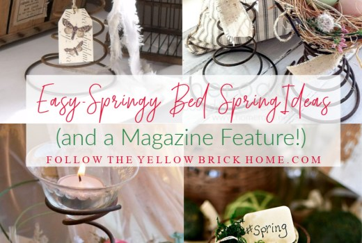 Ideas for repursosing bed springs Easter bedspring ideas spring bed spring ideas cute cottage spring decorating ideas