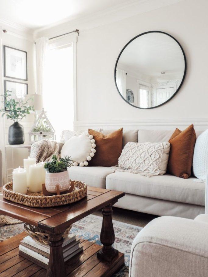 boho winter living room