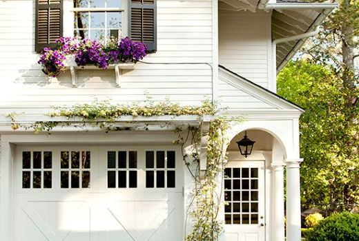 gorgeous garage with pergola curb appeal ideas