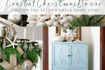 Simple, Chic and Classy Coastal Christmas Decor Coastal Christmas decorating ideas coastal Christmas trees #coastalchristmas