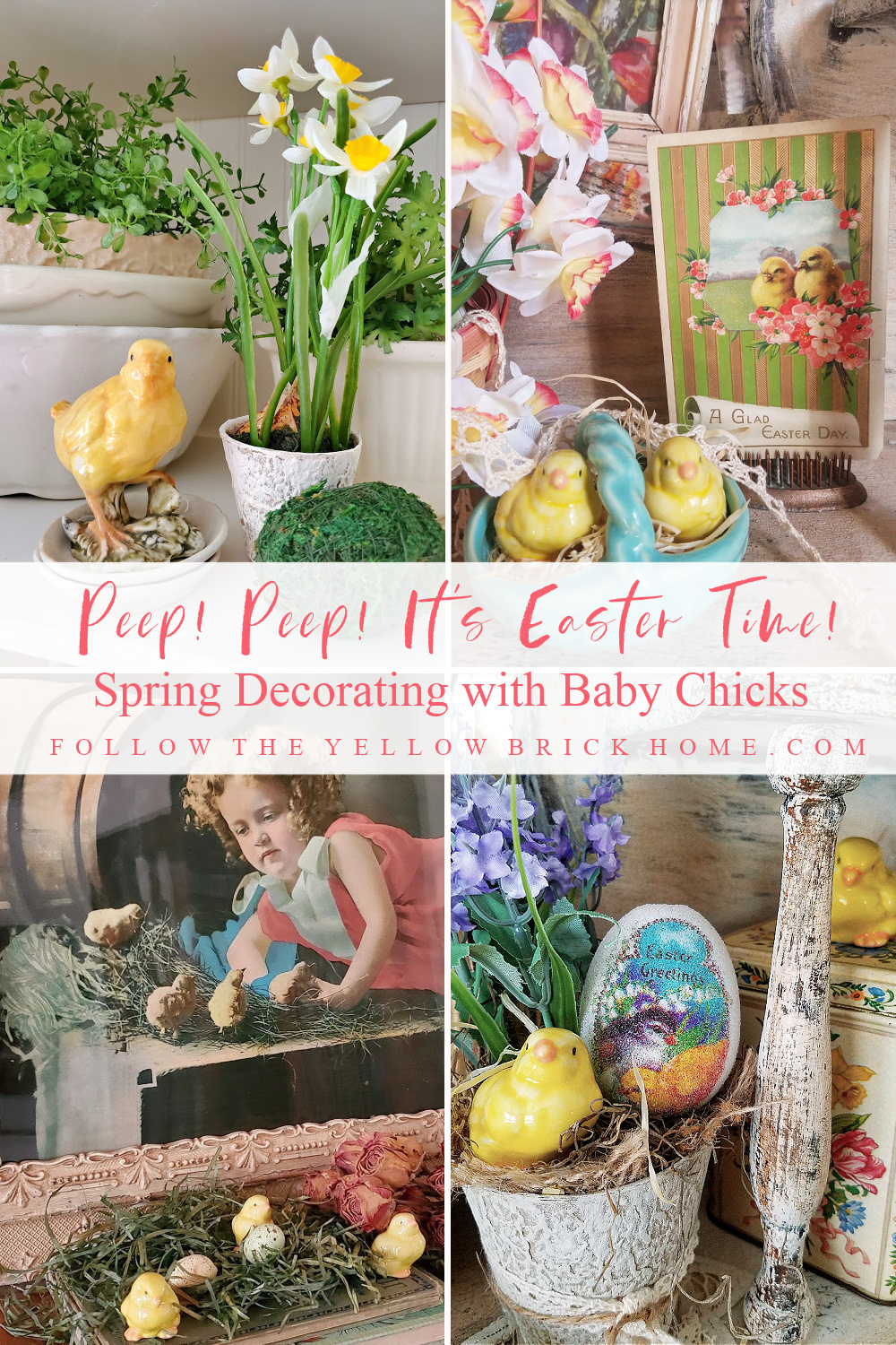 Easter Decorating Ideas Baby Chicks baby Easter Chicks in Easter decor spring decorating