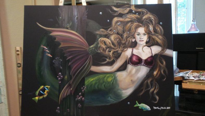 """Surprise Under the Dock"" Original Painting"