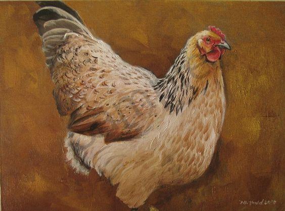 "A Big Fat Hen on Bronze"" Chicken Wall Art Prints by Martha J. Dodd"