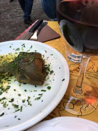 Our Roman artichoke and wine
