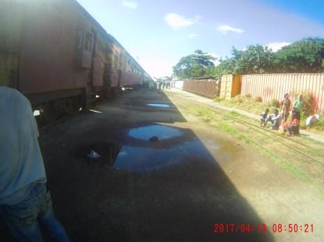 Train leaving Kigoma