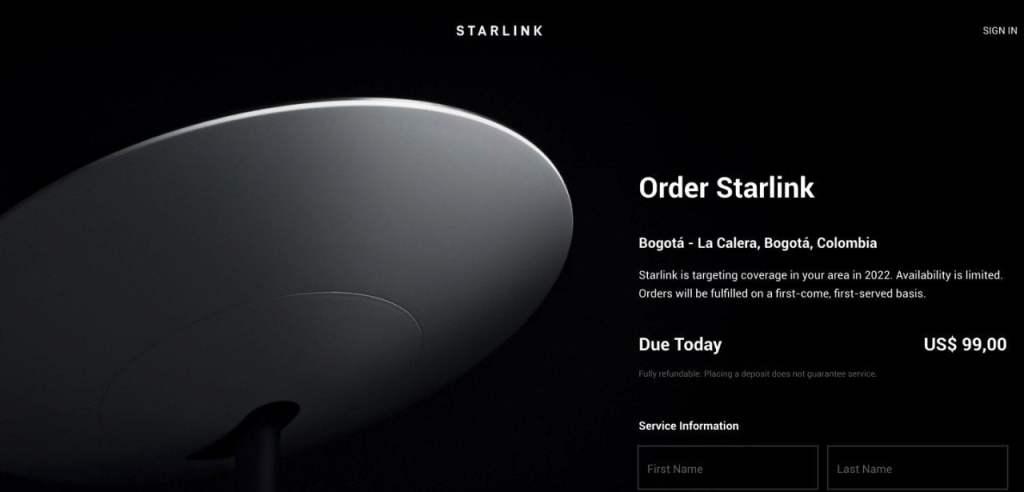Starlink en Colombia