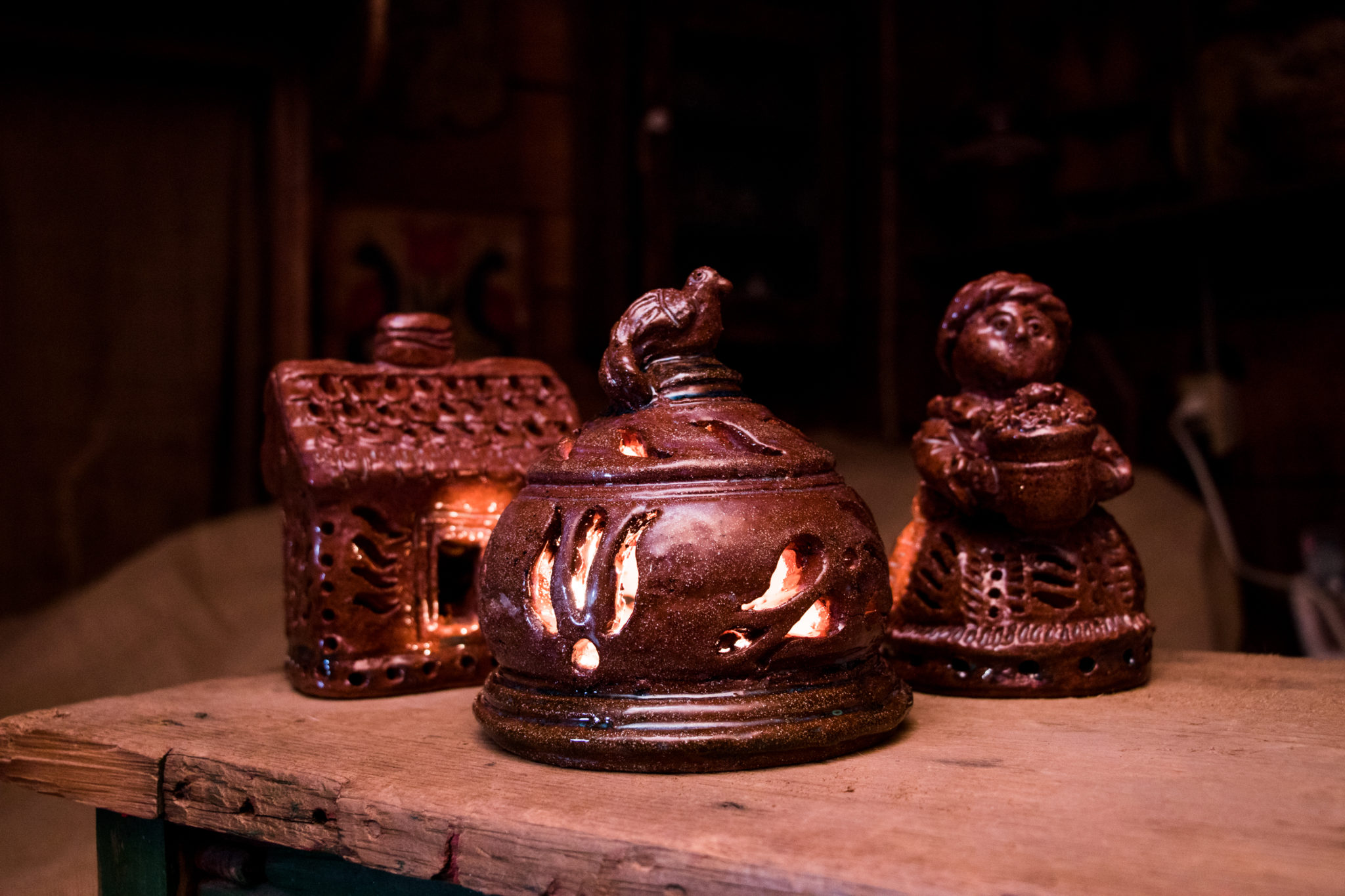 Red Clay Night Lights Made in Lancaster Pennsylvania by Ned Foltz