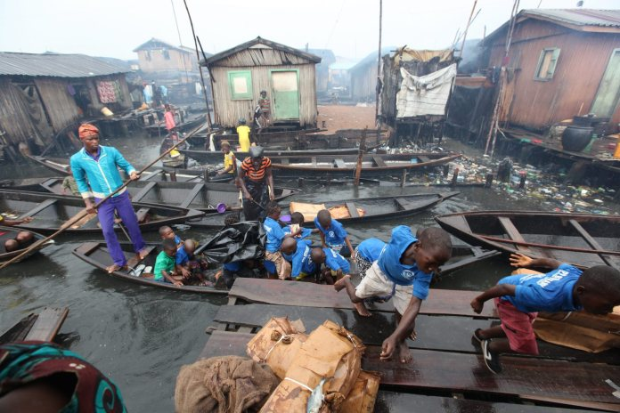 Nigeria Floating Slum
