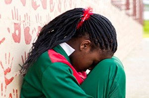 School girl victim of violence