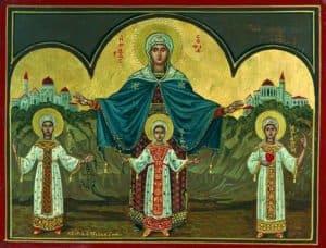 Димитриос Пелекасис. Святая София и ее дочери Надежда, Вера и Любовь