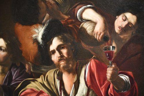 Bartolomeo Manfredi, Scène de taverne avec un joueur de luth