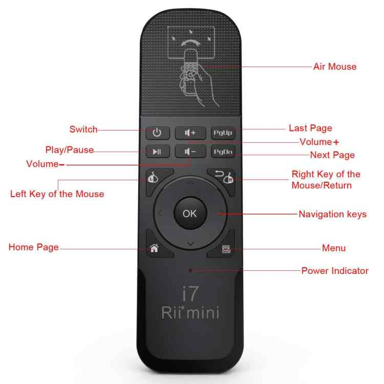 RII i7 mini air mouse remote