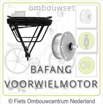 Ombouwset met 250W Bafang Voorwielmotor Drageraccu Bafang overzicht 01