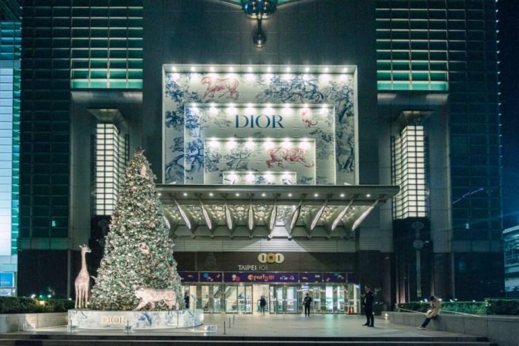 |台北。信義|101購物中心-2018全球唯一DIOR超美質感聖誕樹