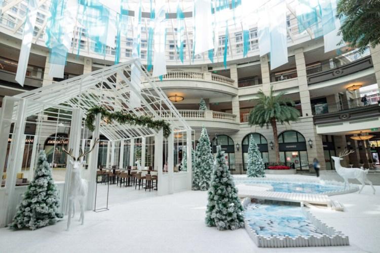 |台北。信義|寶麗廣塲 BELLAVITA-貴婦百貨雪白極光聖誕場景