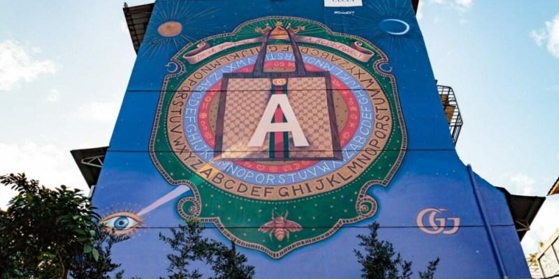 |台北。大安|全球第六座 Gucci Art Wall 藝術牆在台北永康街!