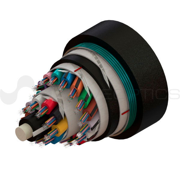 Loose Tube Single Armored Double Jacket Cable 288 fibers