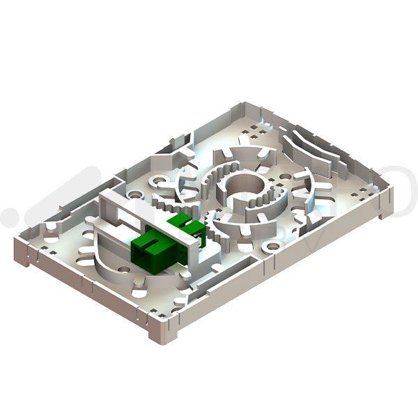 2 Port Fiber Optic Terminal Box-Open-Mexfoserv