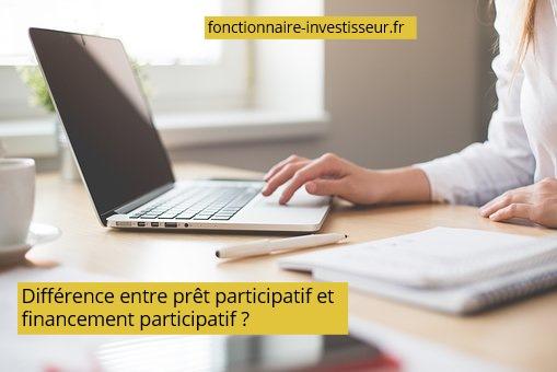 différence prêt participatif et financement participatif
