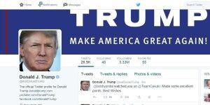 Republican candidate Twitter comparison - Trump