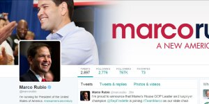 republican twitter account comparison - Marco Rubio