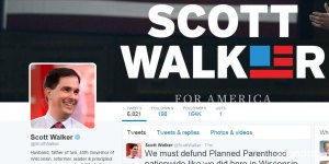 republican candidate twitter comparison - Scott Walker