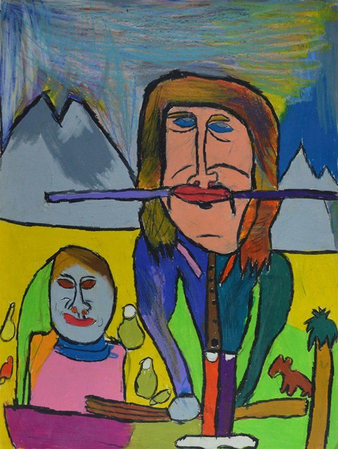 Jean-Jacques Bonnier, Sans titre, 2006, pastel gras sur papier, 73 x 55 cm