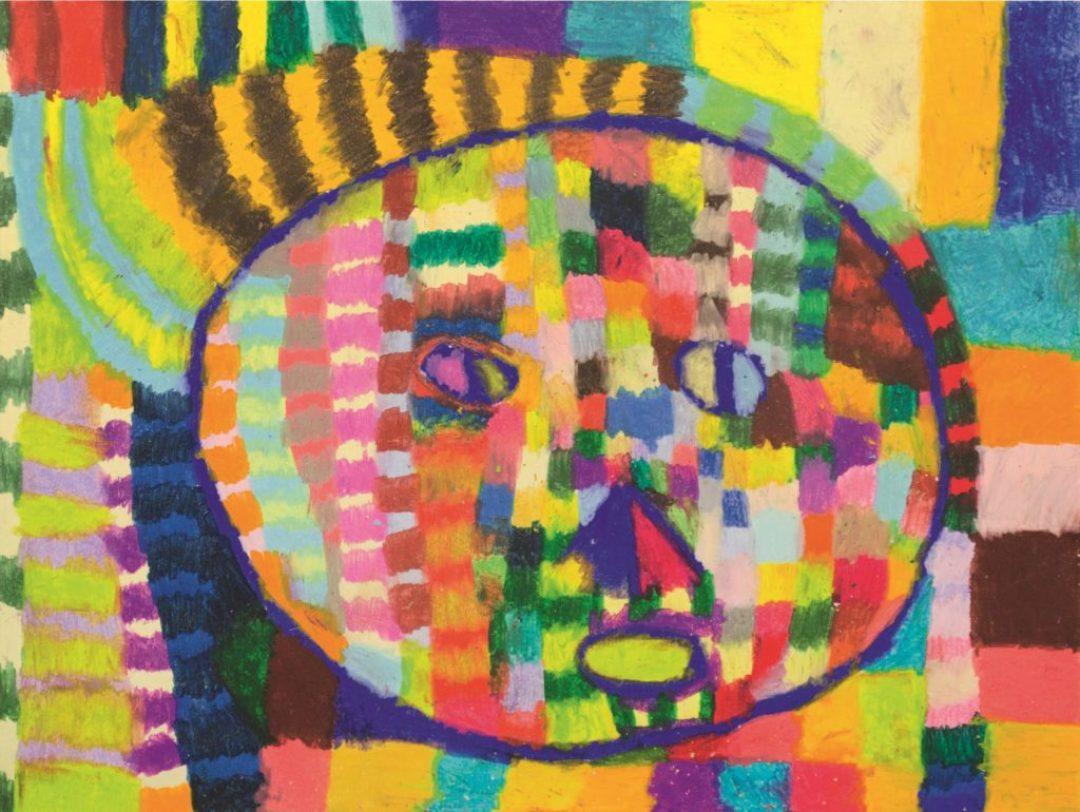 Gérard Wargnier, sans titre, 2013, pastel à l'huile sur papier, 55 x 73 cm