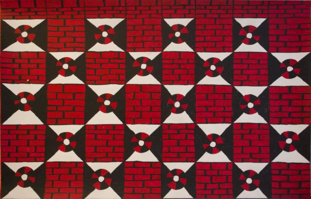 Louis Van Baelens, sans titre, nd (ca 2015), peinture acrylique sur papier, 80 x 120cm