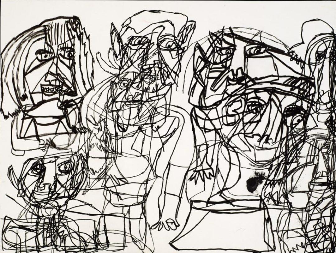 Isabelle Laure, Sans titre, 2013, marqueur acrylique sur papier, 55 x 73 cm