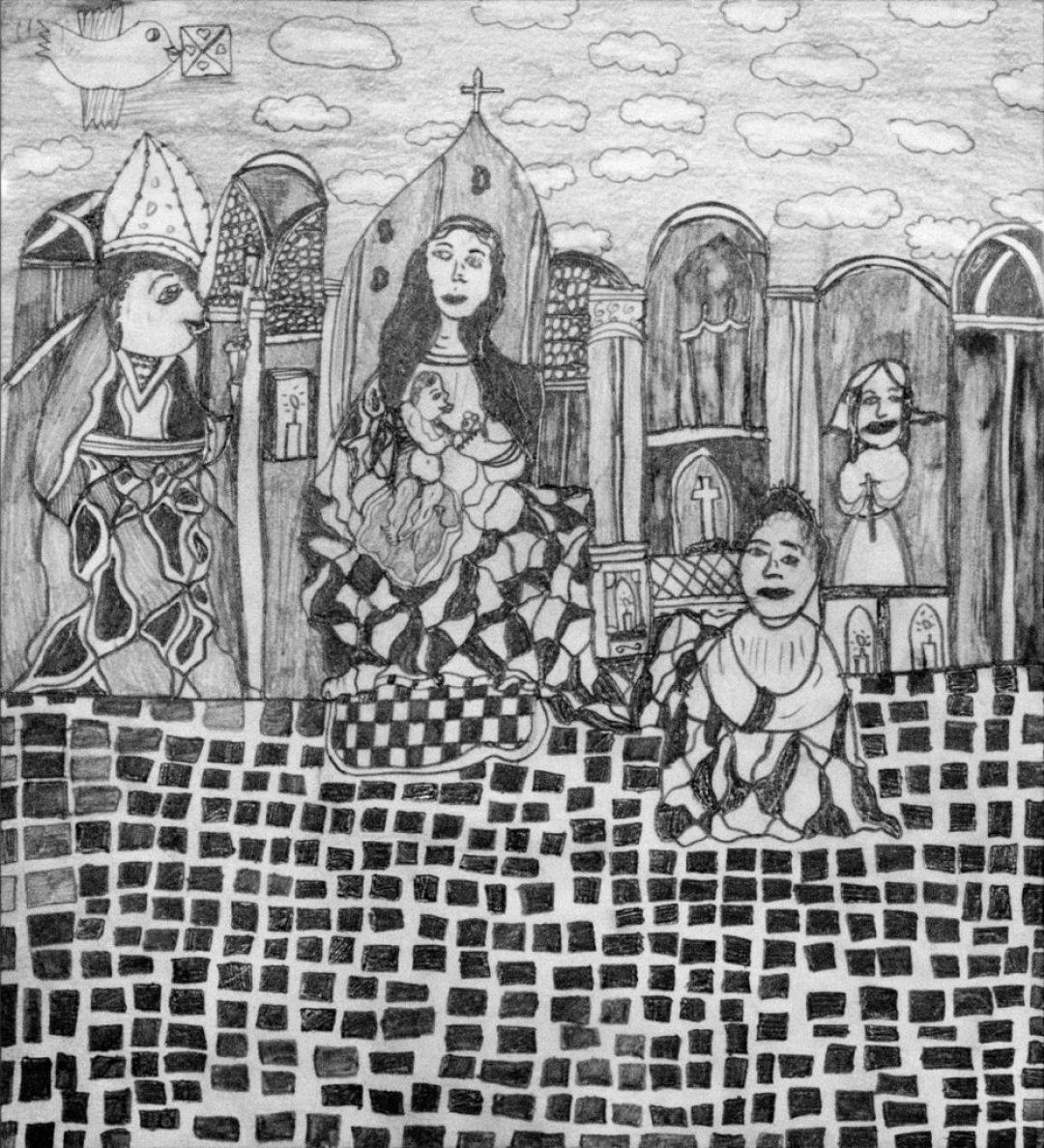 Christelle Hawkaluk, sans titre, 2006, crayon gris sur papier, 36,5 x 33 cm
