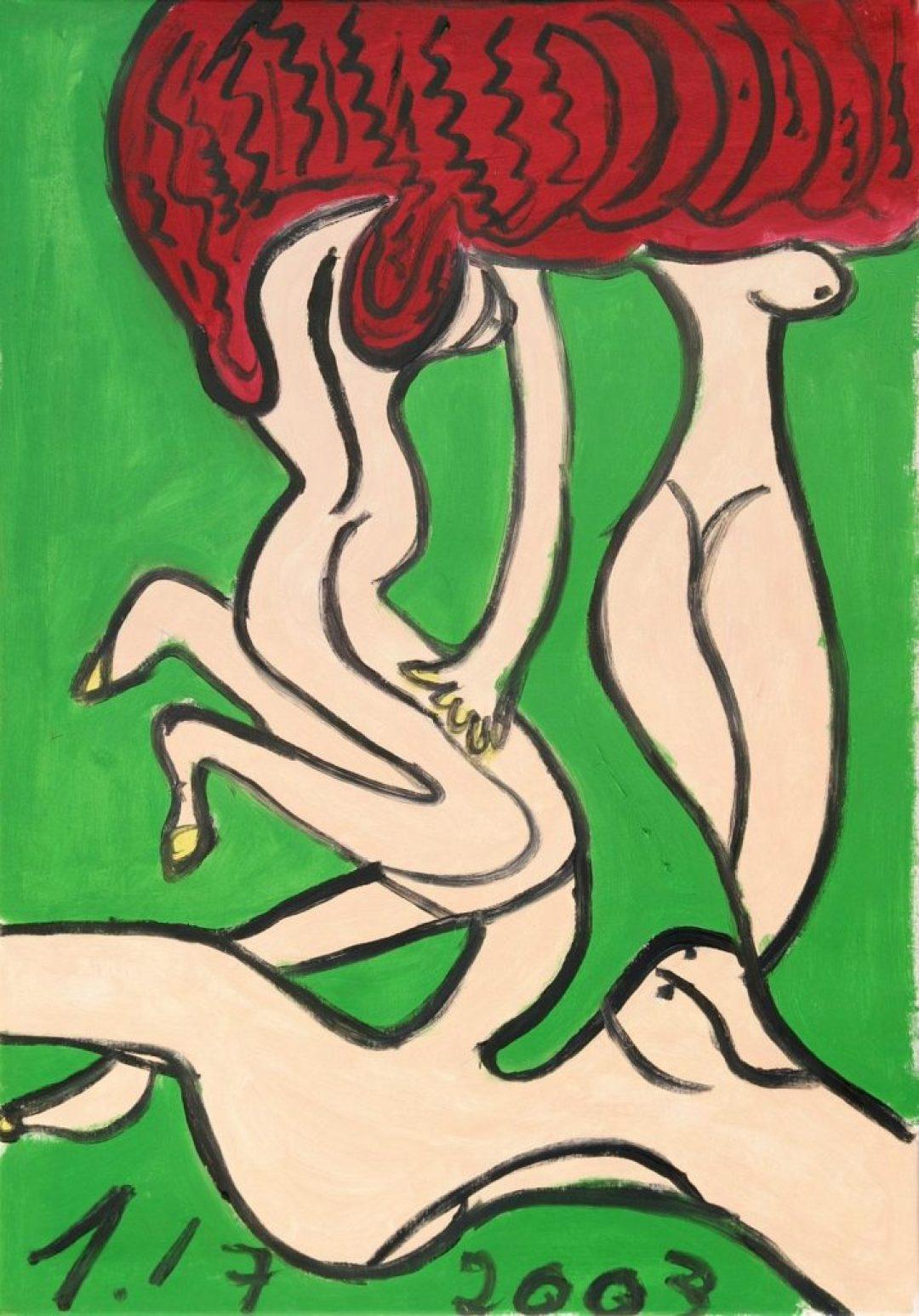 Hugues Joly, sans titre, 2007, peinture à l'huile sur toile, 100 x 70 cm
